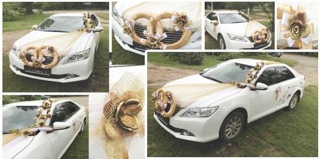 Свадебно украшенный автомобиль в Барнауле