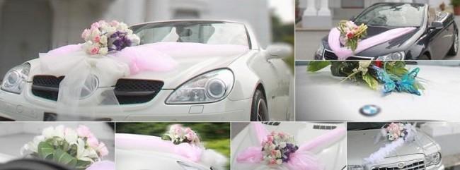 Украшение свадебных арендованных автомобилей